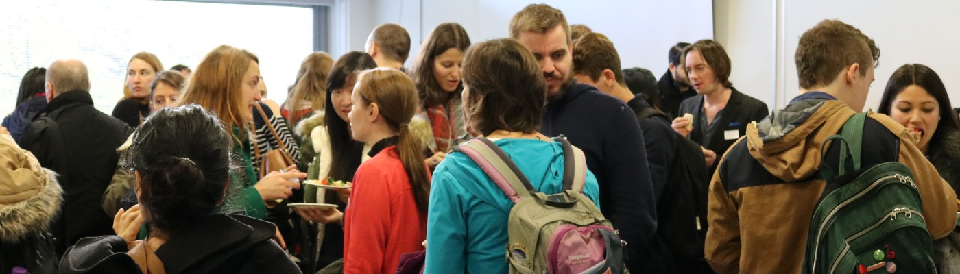 people mingling at a methods@manchester event
